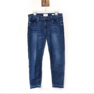 Frame Denim Le Garçon skinny jeans raw hem